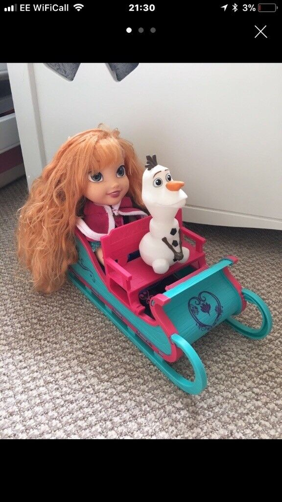 Frozen Anna and Olaf sledge
