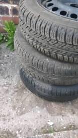 Three tyres - 165/65/14 (free)