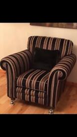 Alstons 3 Seater Sofa & Matching Armchair for sale