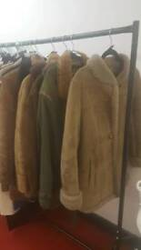 Genuine sheepskin coats