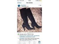 Dune suede over the knee boots