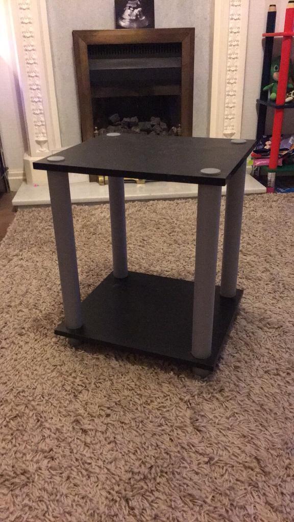 Black wood effect side table