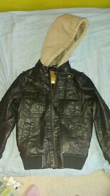 child leather effect jacket age 5 from next