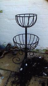 Wrought Iron garden planter, Black,