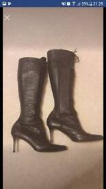 Christian Dior ostrich leather boots