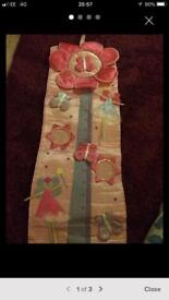 Girls pink satin height chart for sale!