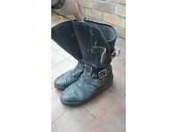 Mens Vintage Motorcycle Biker Boots 9