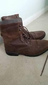 Caterpillar high top mens leather boots