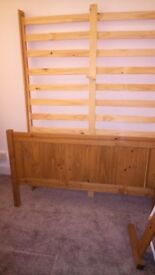 Spare double bed with mattress