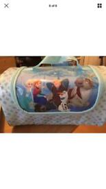 Disneys Frozen Duffel Bag & Make Up Set Brand New With tag