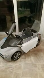 childs BMW electric car! lights up and makes sound,