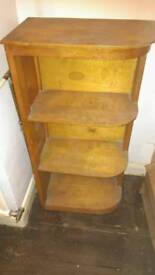 Retro mid century shabby chic project small shelving unit bookcase