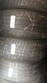 225 45 17 part worn tyres RUNFLATS used tires 6-7mm