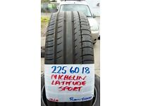 set of matching 225 60 18 MICHELIN LATITUDES £90 PAIR SUP & FITD £160 7MM TREAD **OPEN 7-DAYS **