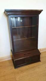 Antique Post Display Cabinet