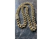 """Gorgeous Heavy GP CZ 24"""" Curb Chain, 132g, WILLING TO POST"""