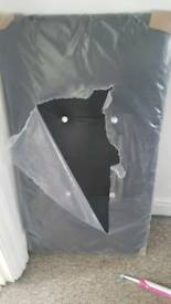 new black leather single headboard 4 diamontie