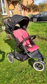 Phil and Ted's Dot buggy / pram / stroller incl. rain cover