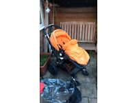 Bugaboo cameleon 2, parents or world facing, carrycot and seat unit with extras