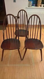 3 x Ercol Quaker Dining Chairs