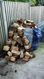 Split Seasoned Logs Ready For Winter Open Fire Log Burner Firewood Aga Fire Pit