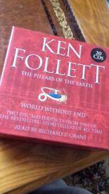 20 CD AUDIO BOOK KEN FOLLETT 'Pillars of earth' + 'World without end'