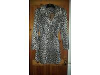 Savoir leopard print coat