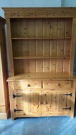 Solid pine kitchen dresser hand made in northern ireland.
