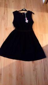 Jack Wills Black Dress BNWT Size 6