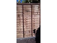 Brand new overlap fence panels