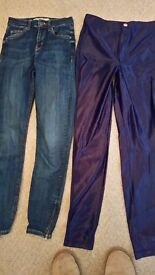 Girls topshop jamie jeans and disco pants