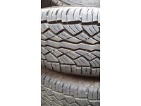 4 x 4 15 inch alloys BRAND NEW TYRES