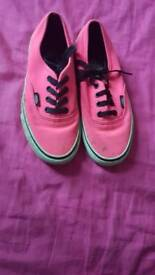 Size 4 1/2 bright pink vans