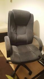 Large fabric office chair in grey
