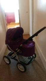 Children's silver cross toy buggy with change bag and pram duvet/mattress /pillow set