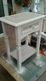 Upcycled bedside/console table