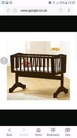 Saplings Bernice Glider Crib Walnut