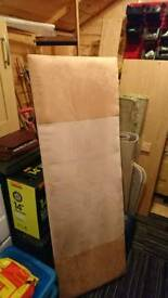 Cream padded velvet headboard