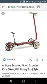 Vintage 1970s kick and go honda scooter