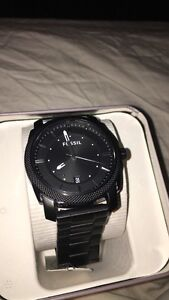 Men's black fossil watch