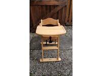 Mamas and Papas wood folding high chair