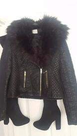 George jacket size 8 never worn £10 . Thigh boots size 5 never worn £15