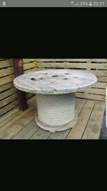 Giant cable reel table
