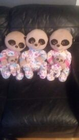 Soft toy Meerkats 3 x adult 2 x kids