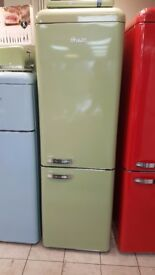 BRAND NEW Swan SR11020GN Retro Tall Fridge Freezer with 6 MONTHS WARRANTY