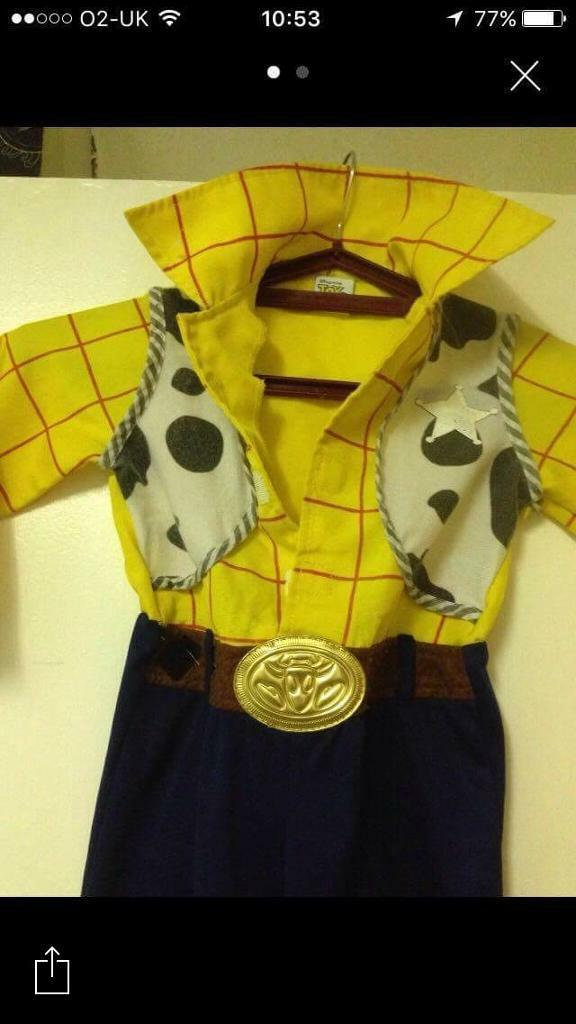 Toy story 3 woody costume age 2-3