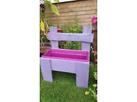 Rustic chair style planter