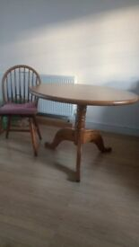 Wooden kitchen dining set with 4 chairs