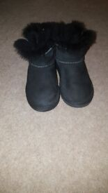 Girls Black Bailey Button Ugg Boots