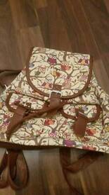 Brand new and unused - Owl patterned fabric rucksack
